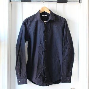 Uniqlo Men's Black Button Down Shirt Size Small